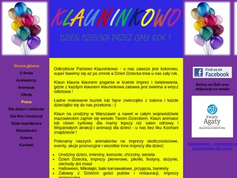 Klauninkowo - imprezy dla dzieci