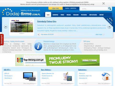 Katalog firm - dodaj-firme.com.pl