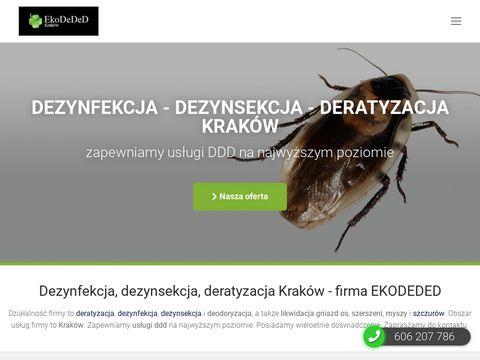 EkoDeDeD dezynfekcja coli Kraków