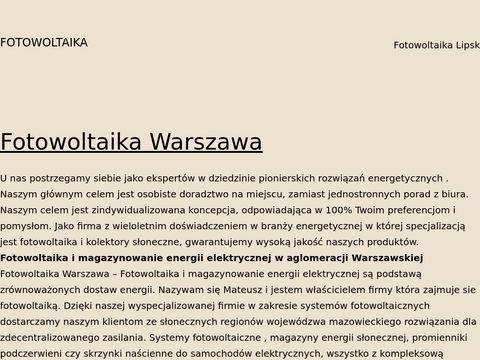 Fotowoltaikawarszawa.com instalacje, zestawy