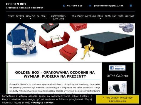 Golden Box - opakowania ozdobne