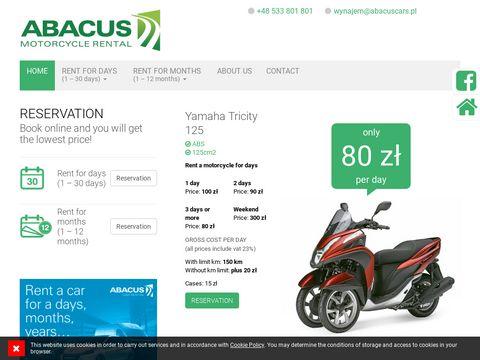 Abacus wypożyczalnia motocykli