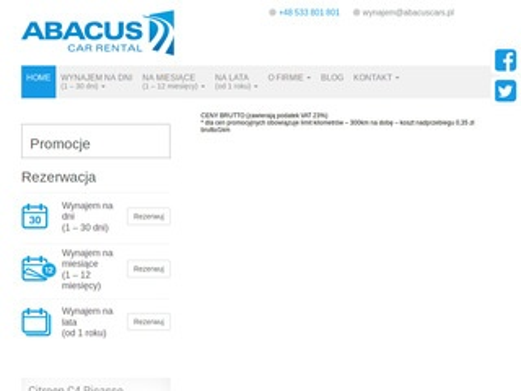 Abacus wypożyczalnia aut