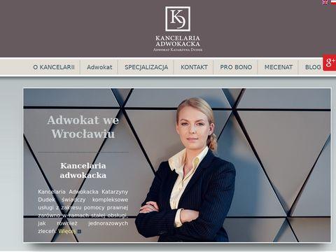 Katarzyna Dudek adwokaci Wrocław