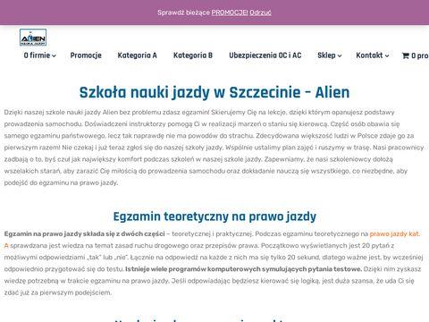 Alien prawo jazdy kat b Szczecin