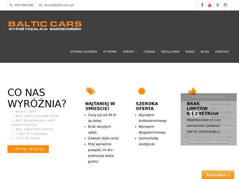 Baltic Cars wynajem aut Gdańsk
