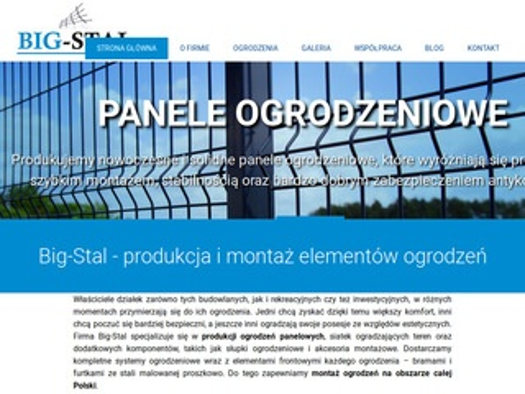 Bigstal.pl siatka ogrodzeniowa