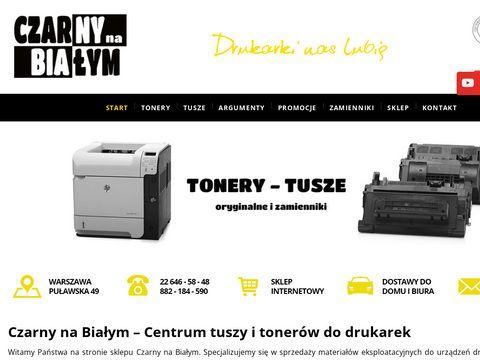 Czarny na Białym tonery hp Warszawa