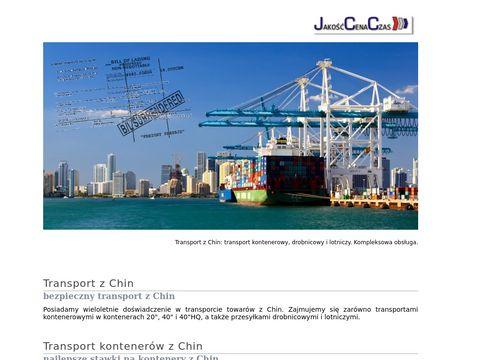 Transport morski i lotniczy z Chin