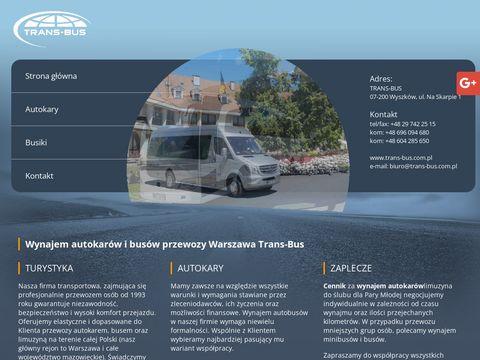 Trans-Bus autokary wynajem Warszawa
