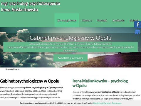 Mgr Irena Maślankowska psycholog
