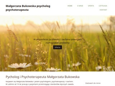 Psycholog Małgorzata Bukowska