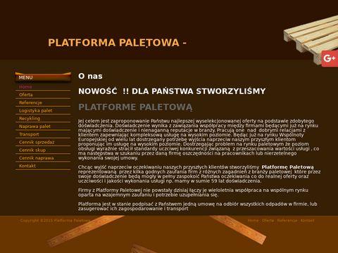 Platforma Paletowa utylizacja palet