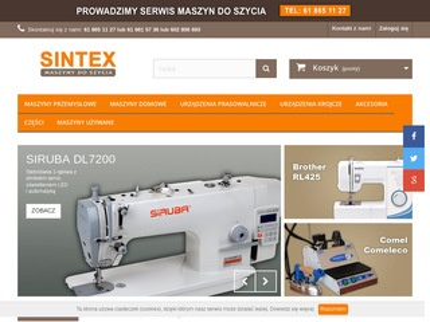 Sintex.pl części do maszyn