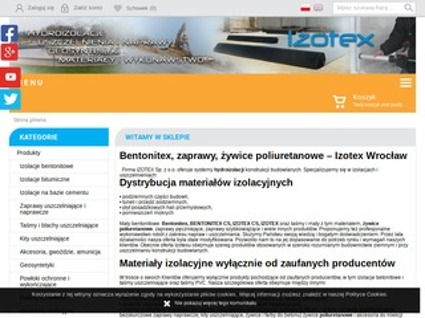 Izotex izolacje bentonitowe