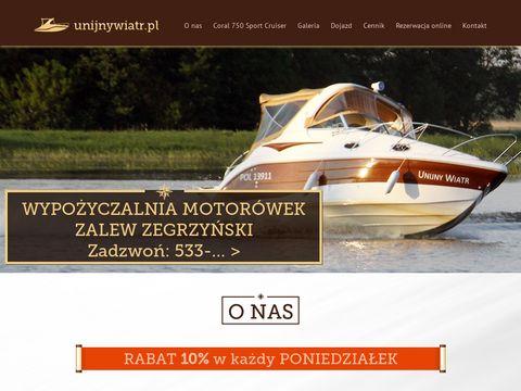 Unijnywiatr.pl - motorówka Zegrze