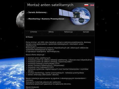Unimar - montaż anten satelitarnych
