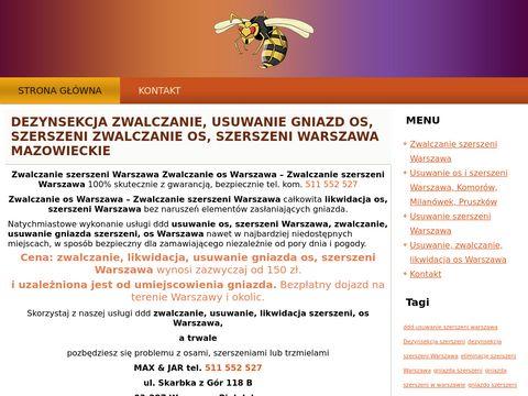 Usuwanie os i szerszeni Warszawa