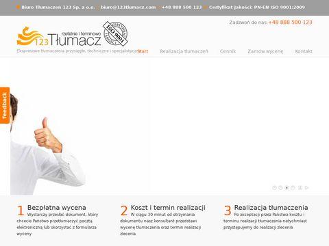 Tłumaczenia stron internetowych